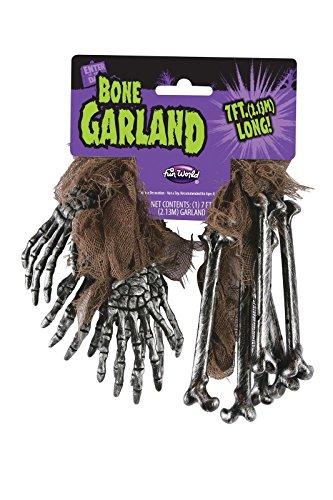 7' Bone (7' Long Halloween Decoration Decor Bone Hands Bones Gauze Skeleton Garland)