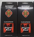 Gonesh Incense Cones, Dragon's Blood – Set of 2 Packs of 25, Total 50