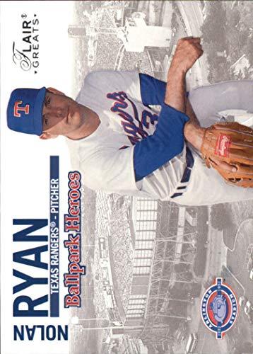 Ball Ryan Nolan (2003 Flair Greats Ballpark Heroes #1 Nolan Ryan - NM)