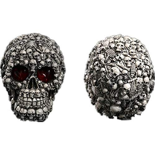 AAA&LIU Human Shape Skeleton Head Skull Statue Figurine Demon Evil Home Decoration Accessories Halloween Scary Party]()