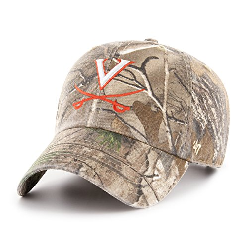 '47 NCAA Virginia Cavaliers Adult Clean Up Realtree Adjustable Hat, One Size, Realtree Camo