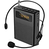 Portable Voice Amplifier for Teachers HaoWorks S268Pro 10W Compact and Lightweight Personal Microphone Headset Amplifier Rechargeable Small Pa Speaker with FM Radio Ideal for Teaching,Presentation