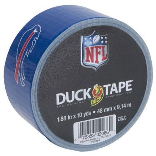 Duck Brand 281555 Buffalo Bills Nfl Team Logo Duct Tape  1 88 Inch By 10 Yards  Single Roll