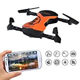 RC Headless Quadcopter Drone with HD Wi-Fi Camera 628 FPV Foldable RC Drone with App Voice Control 2.4Ghz 6-Axis Gyro