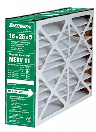 GeneralAire 5FM1625 MERV 10 Replacement Filter, 16