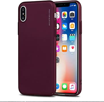 Funda® Firmness Smartphone Carcasa Case Cover Caso para Apple iPhone XS MAX(Vino Tinto): Amazon.es: Electrónica