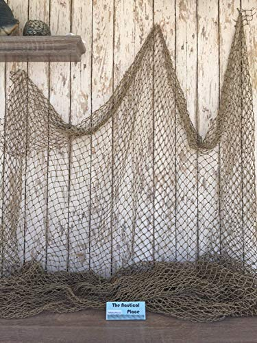 Rustic & Primitive Crafting Supplies (B) Manufactured to Look Antique Old Vintage Fishing Net ~10'x10' ~Authentic Netting ~ Crab, Lobster Trap, Pond Inspiration for A Project