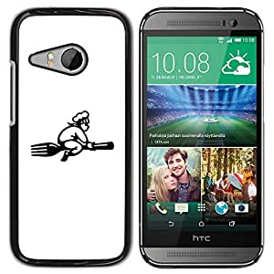 Be Good Phone Accessory // Dura Cáscara cubierta Protectora Caso Carcasa Funda de Protección para HTC ONE MINI 2 / M8 MINI // flying with Broom
