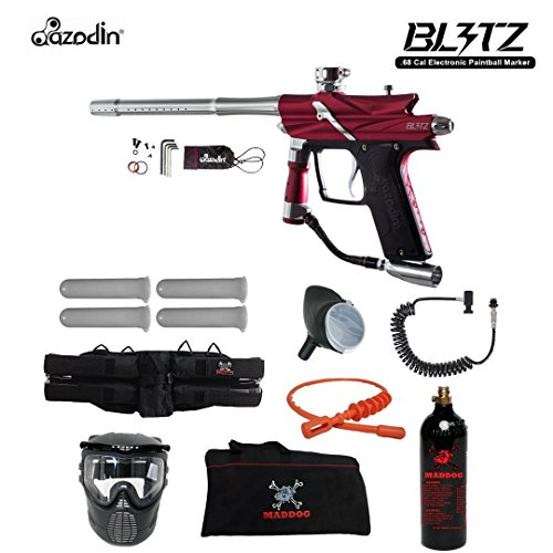 Gun Paintball Barrel Autococker (MAddog Azodin Blitz 3 Specialist Paintball Gun Package - Red)