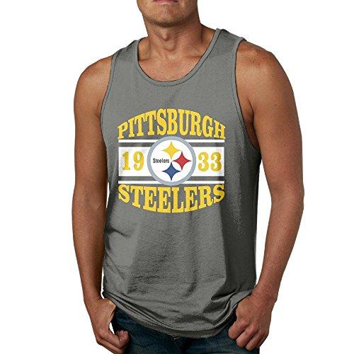 PTCY T P Steeler Build Team Time Men's Custom Sleeveless Shirt Vintage XL DeepHeather