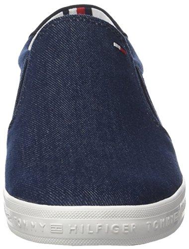 Tommy Hilfiger Herren Slittamento Essenziali Sulla Sneaker Blau (mezzanotte 403)