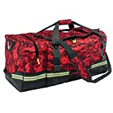 Arsenal 5008 Firefighter Turnout Gear and Safety Duffel Bag for Fire, Fall Protection and Sport Gear Bag Use, Red Camo