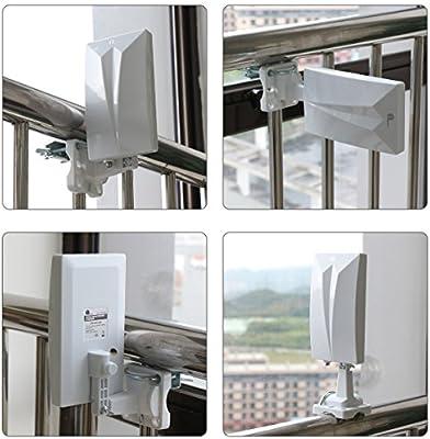 1Byone Antena TV TDT Interior / Exterior para HDTV /Televisión DVB-T / DVB-T2 / receptor, VHF/UHF/FM, 4G LTE Fliter antirreflejos, revestimiento UV, resistente al agua y bündiges Diseño: Amazon.es: Bricolaje y herramientas