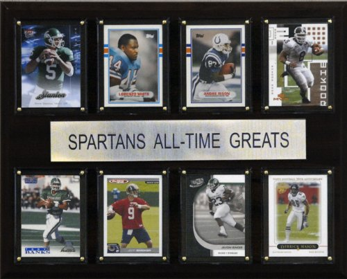 NCAA Football Michigan State Spartans All-Time Greats Plaque ()
