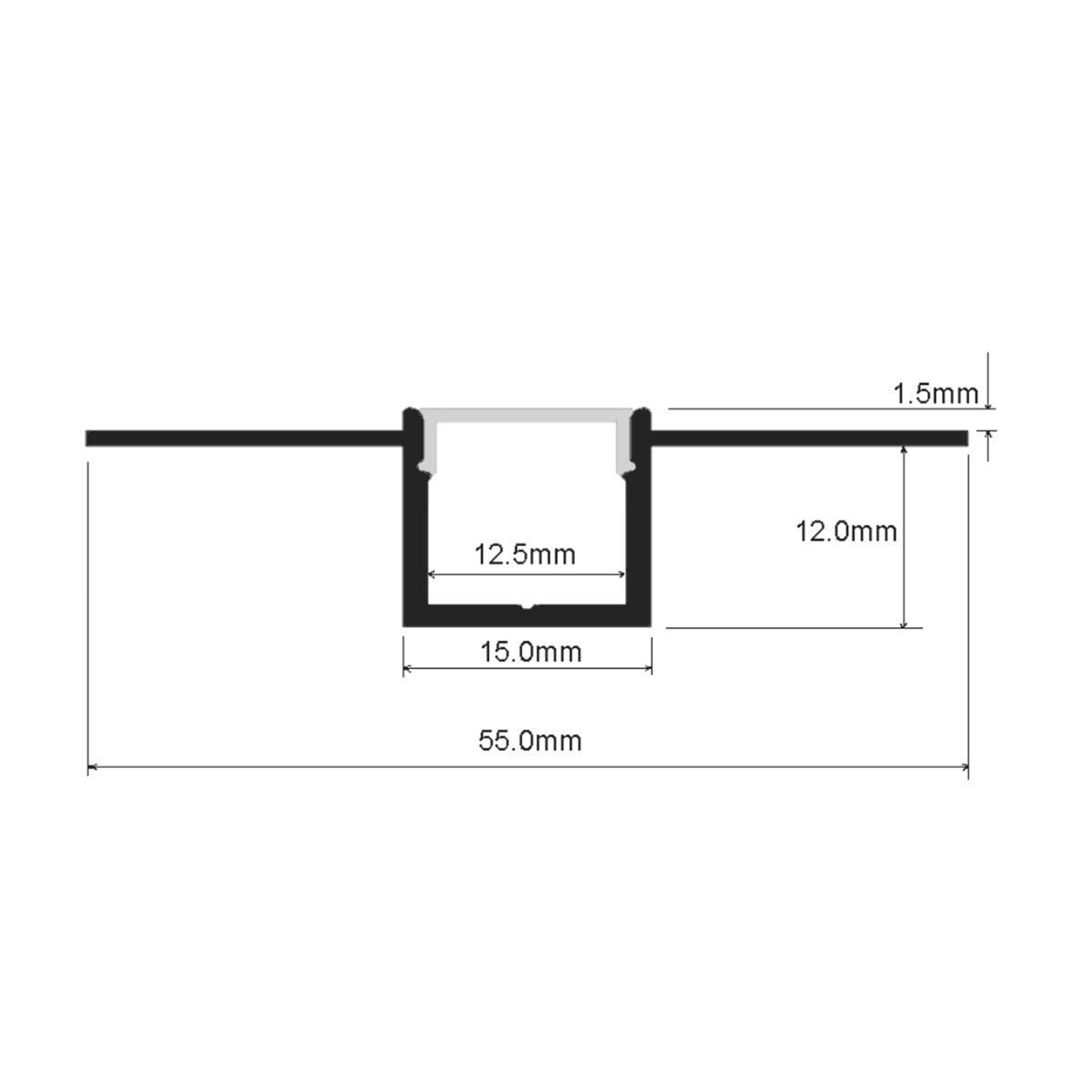 StarlandLed 5-Pack 6.6FT/2 Meter Plaster-in Recessed Slim LED Aluminum Channel with Flange for LED Strip, Aluminium LED Profile with Clip-in Diffuser and End Caps by StarlandLed (Image #3)