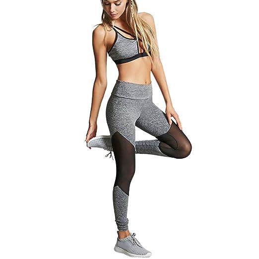 Sky Larga sección de la señora Polainas de Costura de Yoga ...