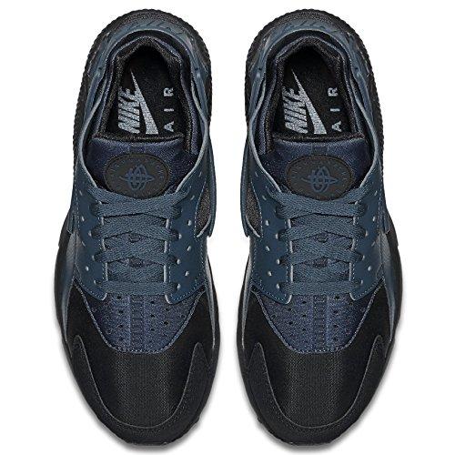 Nike Heren Air Huarache Zwart / Squadron Blauw Leer Maat 9