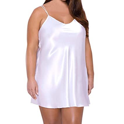 AIMTOPPY Womens Night Dress Plus Size Lingerie Babydoll Nightwear Sleepshirt