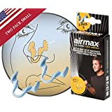 Breathe better with this nasal dilator from Airmax | This dilator ease breathing more effective than nasal strips. Developed to get more airflow during sports | Two pack Small