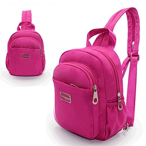 Eysee - Bolso mochila  para mujer morado azul oscuro 19cm*26cm*8cm rosa (b)