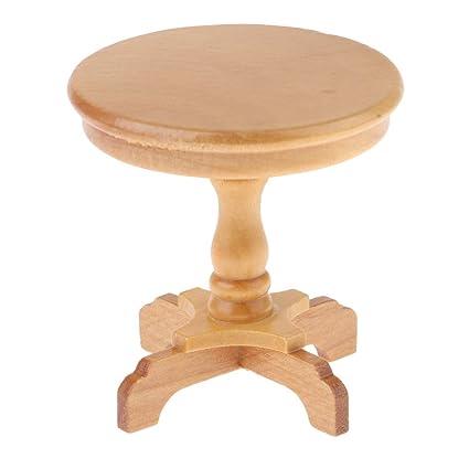 1//12 Retro Dollhouse Miniature Furniture Wooden Stand Shelf Coffee Tea Table