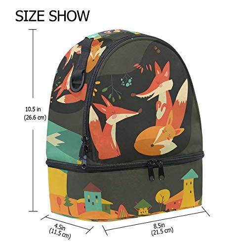pincnic hombro de aislamiento de dibujos con almuerzo de diseño Alinlo con para la escuela animados ajustable de Bolsa correa YwqnU7