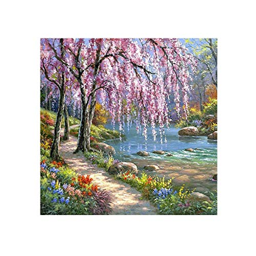Euone 5D Embroidery Paintings Rhinestone Pasted DIY Diamond Painting Cross Stitch -