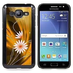 """Qstar Arte & diseño plástico duro Fundas Cover Cubre Hard Case Cover para Samsung Galaxy J2 / J200 (Modelo de flores"""")"""
