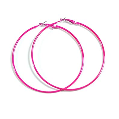 earrings claire pink us star drop neon s