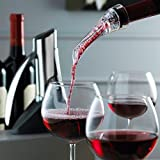 Trudeau Aroma Aerating Pourer with Stand Red Wine Bottle Aerator Spout, 0979003