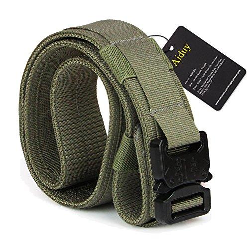 Style Nylon Pistol Belt - Aiduy Tactical Heavy Duty Waist Belt Military Style Belt Nylon Belts with Metal Buckle Molle System 1.5