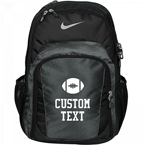 Custom Text Nike Football Practice Backpack/Bag: Nike Performance Backpack by Customized Girl