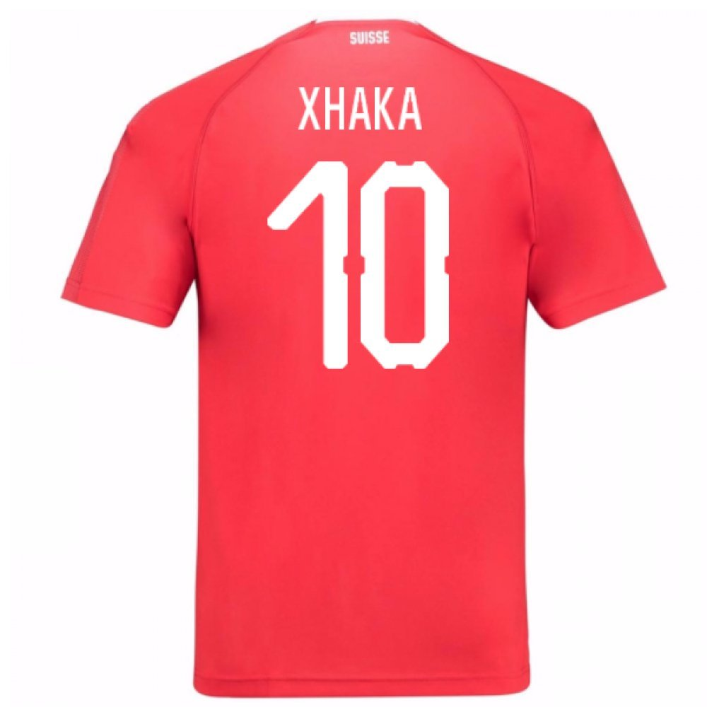 2018-19 Switzerland Home Football Soccer T-Shirt Trikot (Granit Xhaka 10)