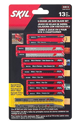 SKIL 94913 U-shank Jigsaw Blade Set, 13 Piece, used for sale  Delivered anywhere in USA