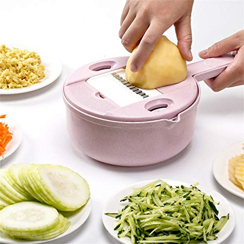 - Tpingfe Wheat Straw Multi-Function Cutting Device Kitchen Cutting Machine Cheese Grater (Pink)