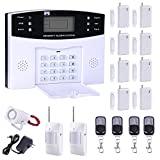 AG-Security Home Security System Professional Wireless GSM Remote Control Intelligent LED Display Voice Prompt wireless Burglar Alarm House Business Surveillance Cameras Auto Dial Outdoor Siren