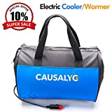Causalyg 22-Can 12V DC Soft Portable Insulated Electric Cooler/Warmer Tote Bag, 18 L Capacity with Thermoelectric System For Camping, Picnic, Road Trip, Car Travel
