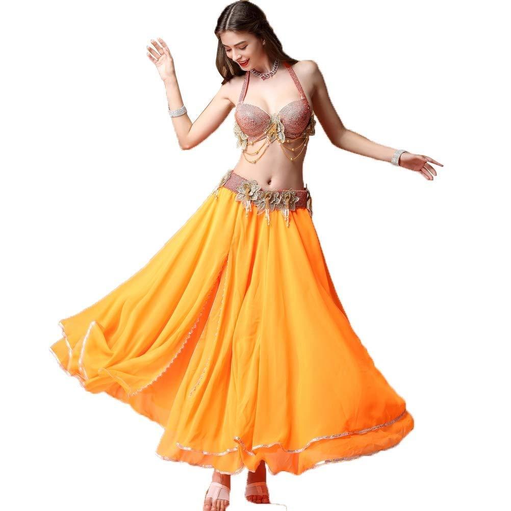 【超目玉】 大人の女性のベリーダンスのドレスセットインドのダンス衣装パフォーマンススーツ オレンジ B07Q8VLJ8F、ブラ+ベルト+スカート3個 B07Q8VLJ8F XL|オレンジ XL|オレンジ オレンジ XL, ハサキマチ:81594c72 --- a0267596.xsph.ru