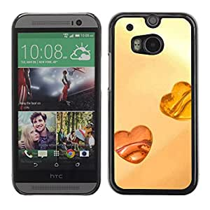 Soft Silicone Rubber Case Hard Cover Protective Accessory Compatible with HTC ONE M8 2014 - Love Amber Love