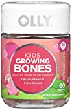 OLLY Kids Growing Bones Calcium and Vitamin D Gummy Supplements, Wild Watermelon, 60 Count