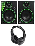 (2) Mackie CR4 4'' Creative Reference Multimedia Monitors+Headphones