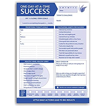 InnerGuide Planners, One Day at a Time SUCCESS, 90-Page, Daily Tear-Off Planning Note Pad (6.5 x 9) The 5-Minute Life Makeover!