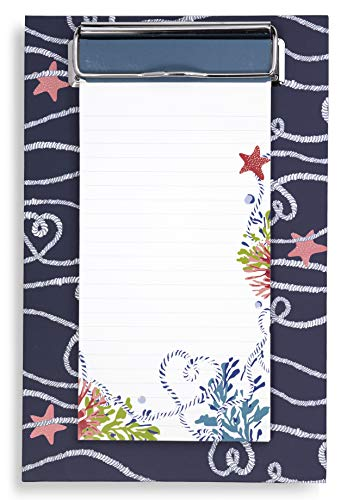 Vera Bradley Small Memo Clipboard with Lined Notepad, Shore Thing - Memo Pad Clipboard