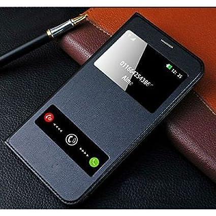 best service ef248 e3f5e SmartLike Leather Flip Cover for Samsung Galaxy A6 Plus(Black)