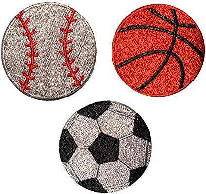 Parches de velcro deportes – baloncesto, béisbol, fútbol Velcro ...
