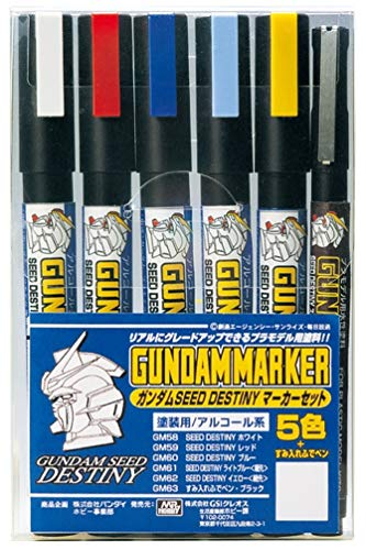 GSI Creos GMS114 Gundam Marker Seed Destiny Set #1 (6 Markers)