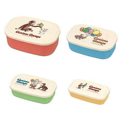 1ef475dd6d1b Amazon.com: Curious George Nesting Microwavable Food Storage Lunch ...
