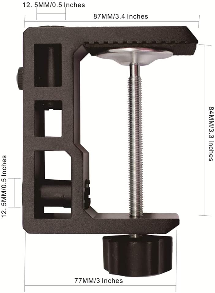 """Replacement Heavy Duty C Clamp for 1//2/"""" Base Magnifying Lamp,XINME Desk Lamp,Swing Arm Lamp,Phone Mount,I pad Mount,Tablet Holder,Mic Holder"""