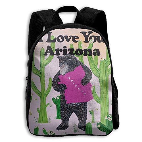I Love You Arizona Arizona State Map Cactus Kid Boys Girls Toddler Pre School Backpack Bags - Kids Map For Arizona