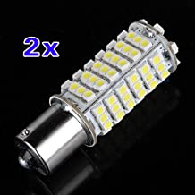 SODIAL(R) 2X Car 1156 382 BA15S P21W White 102 SMD LED Tail Brake Signal Light Bulb DC 12V